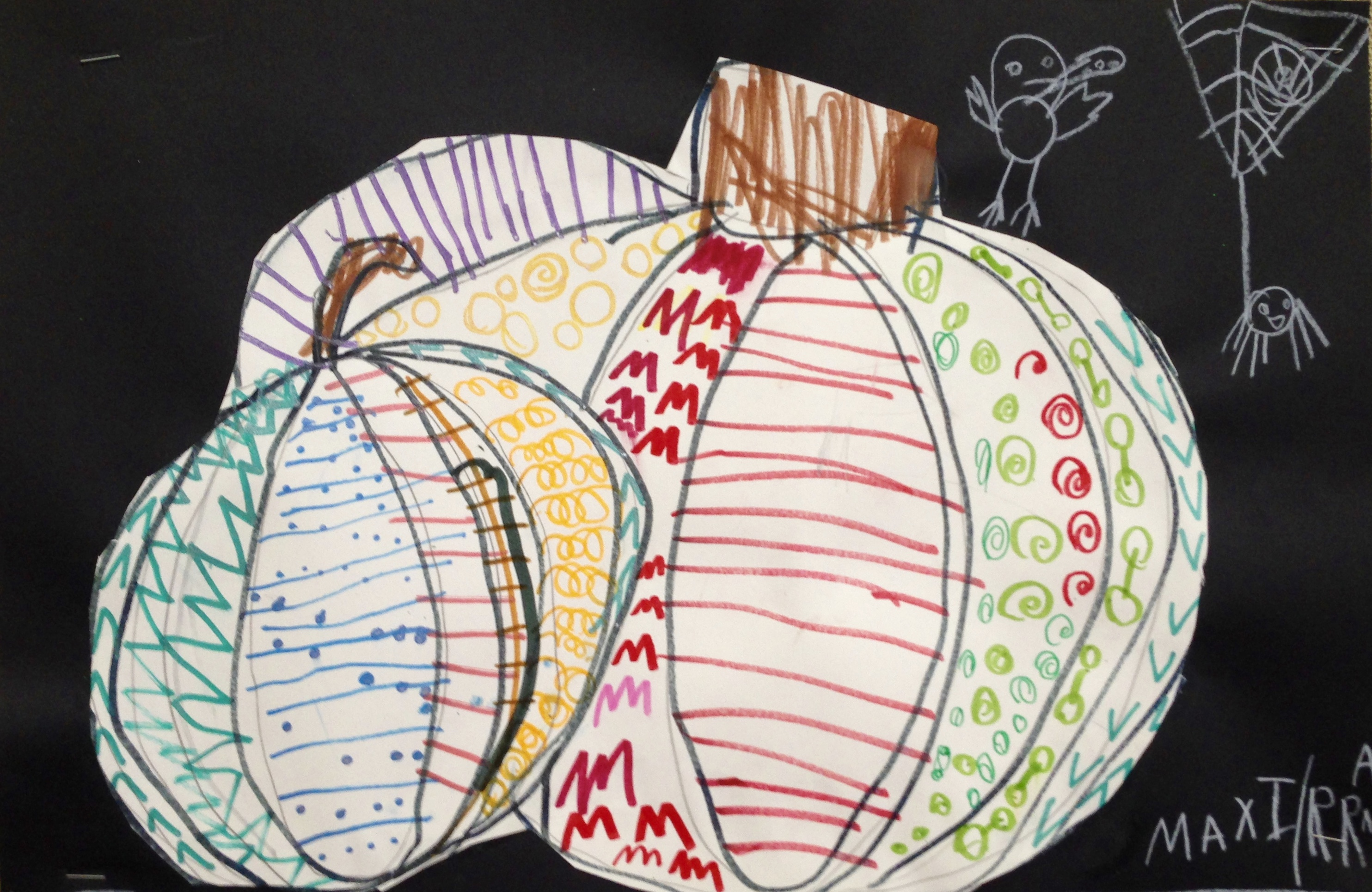 Contour Line Drawing Pumpkin : Line pattern pumpkins by the rainbow room synergeyes